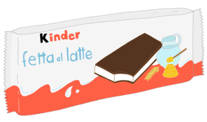 """Kinder Fetta al latte"" by Anna Rodighiero. All Rights Reserved"