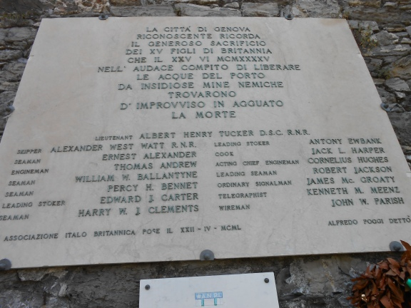 Ricordo ai caduti, Il Faro, Genova